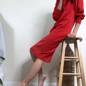 Vintage Henley Dolman Midi Dress
